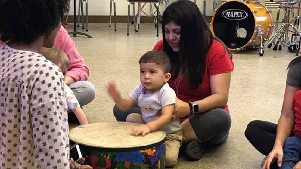 little canes enjoying time with a drum