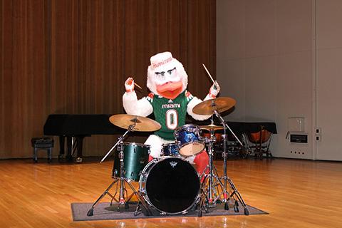 Sebastian on the drum